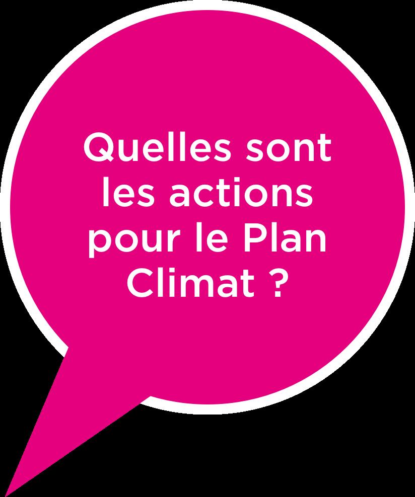 Qu'elles sont les actions pour le Plan Climat ?